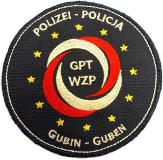 Ärmelabzeichen des Gemeinsamen Deutsch-Polnischen Polizeiteams Guben/Gubin (GPT)