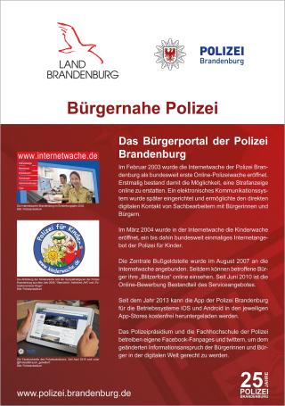das brgerportal der polizei brandenburg geschichtliches polizei brandenburg - Polizei Online Bewerbung