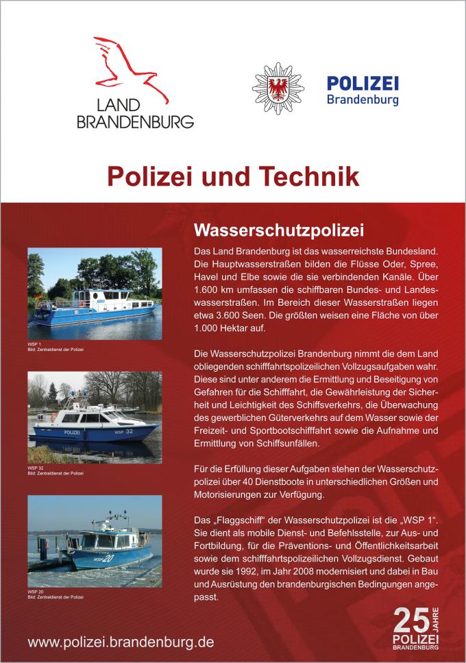 Wasserschutzpolizei Geschichtliches Polizei Brandenburg